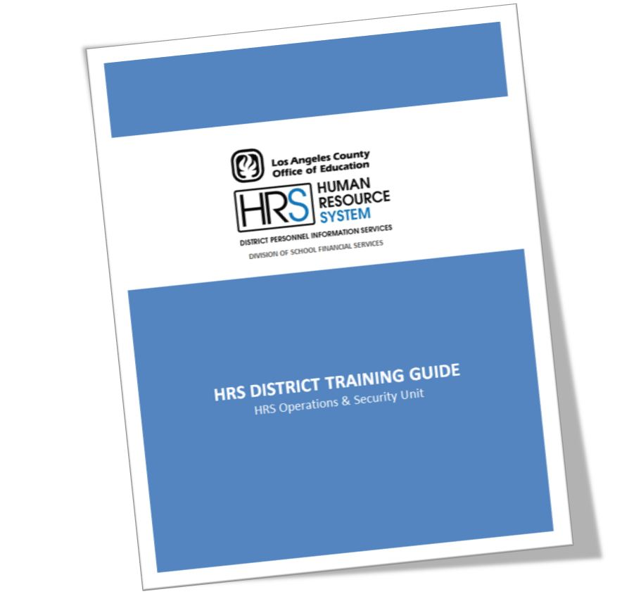 • 2019-2020 HRS District Training Guide