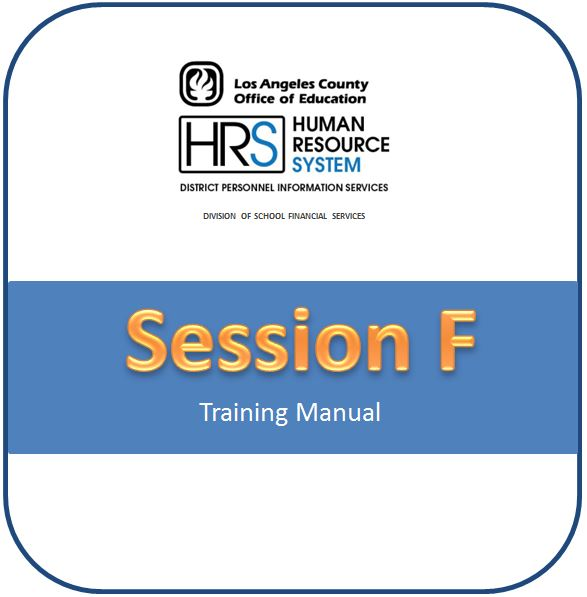 • 2019-2020 Session F - STRS Retirement Coding & Prior Period Adjustments Training Manual