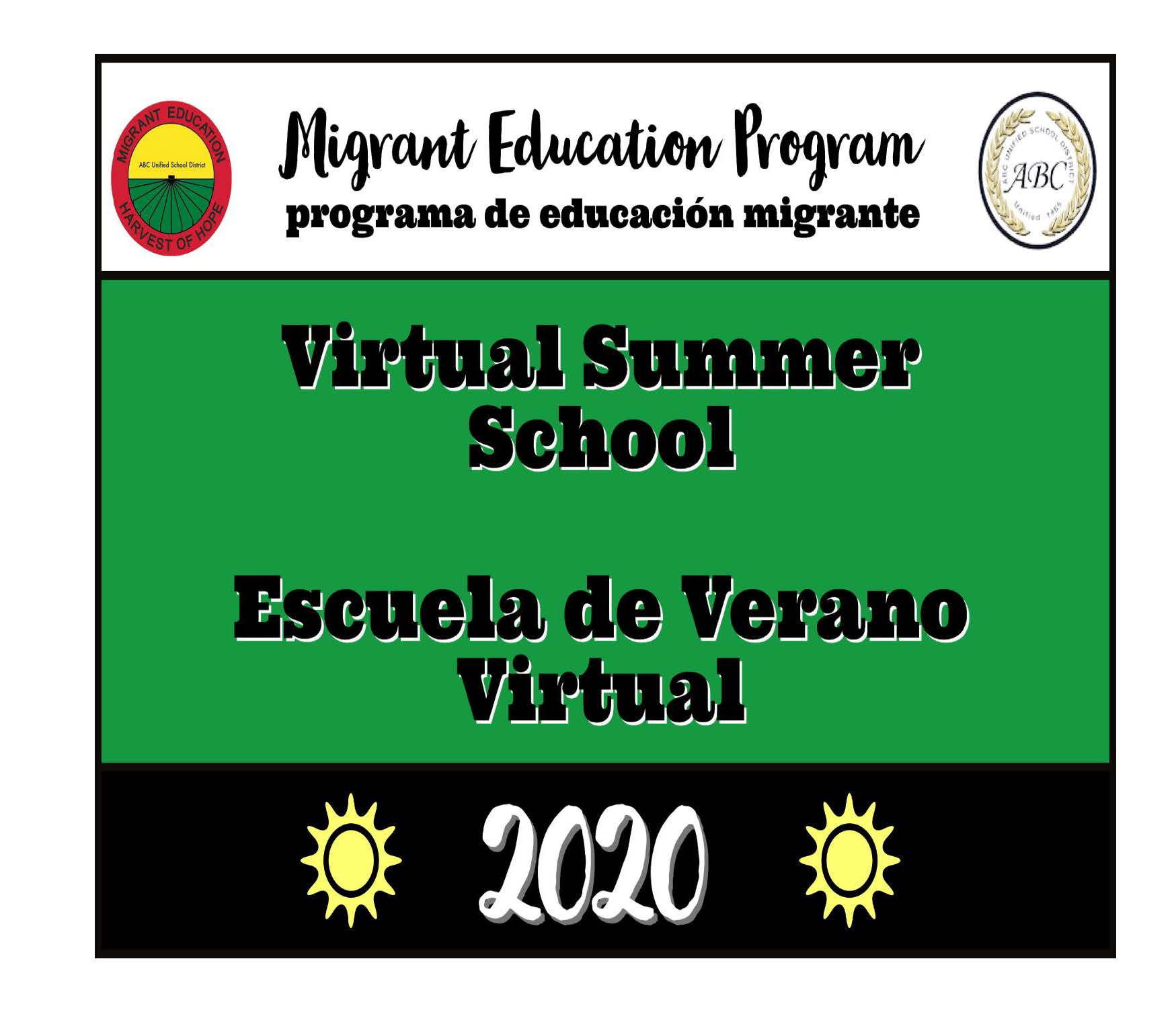 ABC USD Migrant Education Program Virtual Summer School 2019-2020