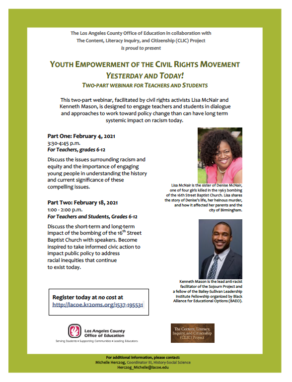 Youth Empowerment of the Civil Rights Movement: Yesterday and Today