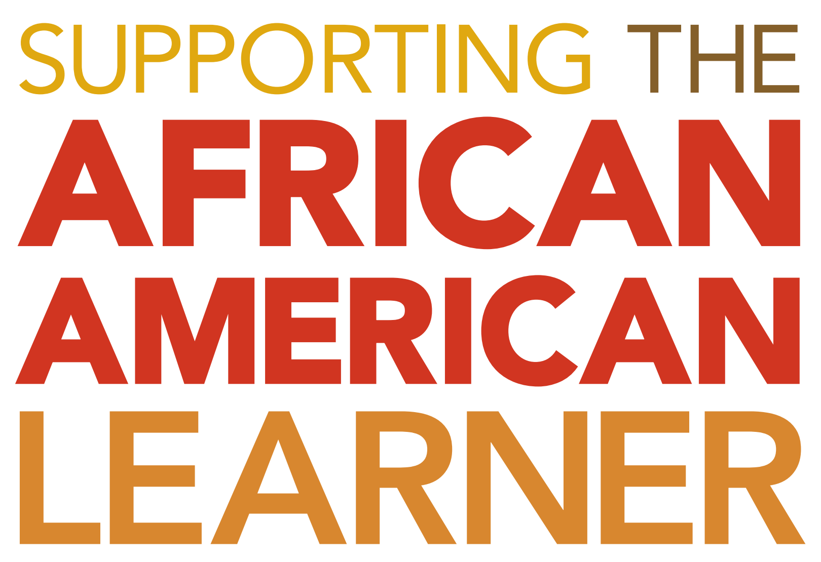 Supporting the African American Learner