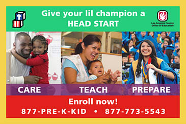 give your lil champion a head start. care, teach, prepare.