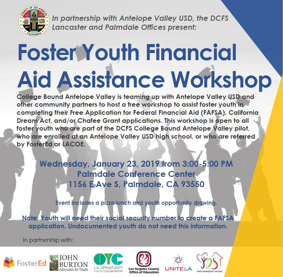 College Bound Antelope Valley hosts Foster Youth Financial Aid Assistance Workshop