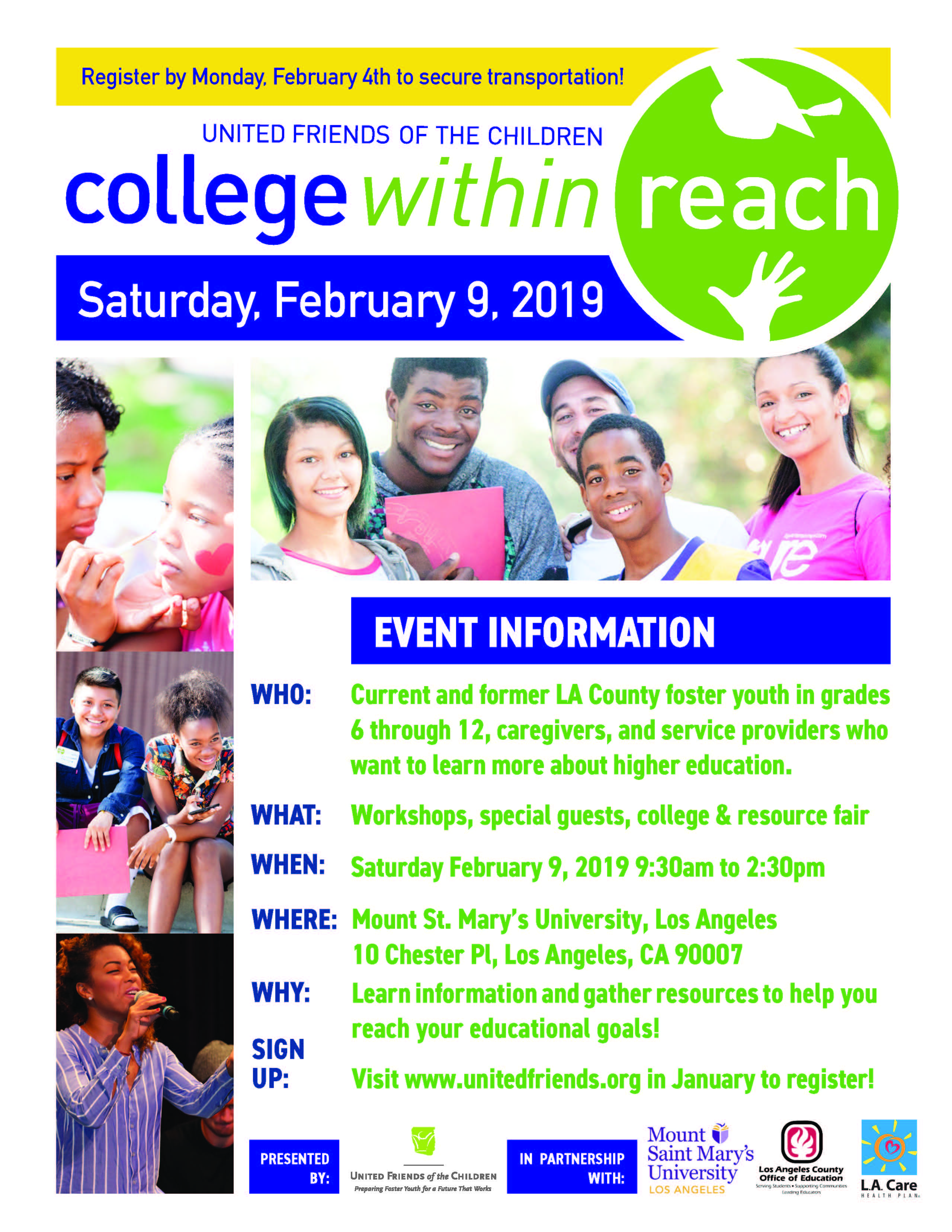 College Within Reach presented by United Friends of the Children
