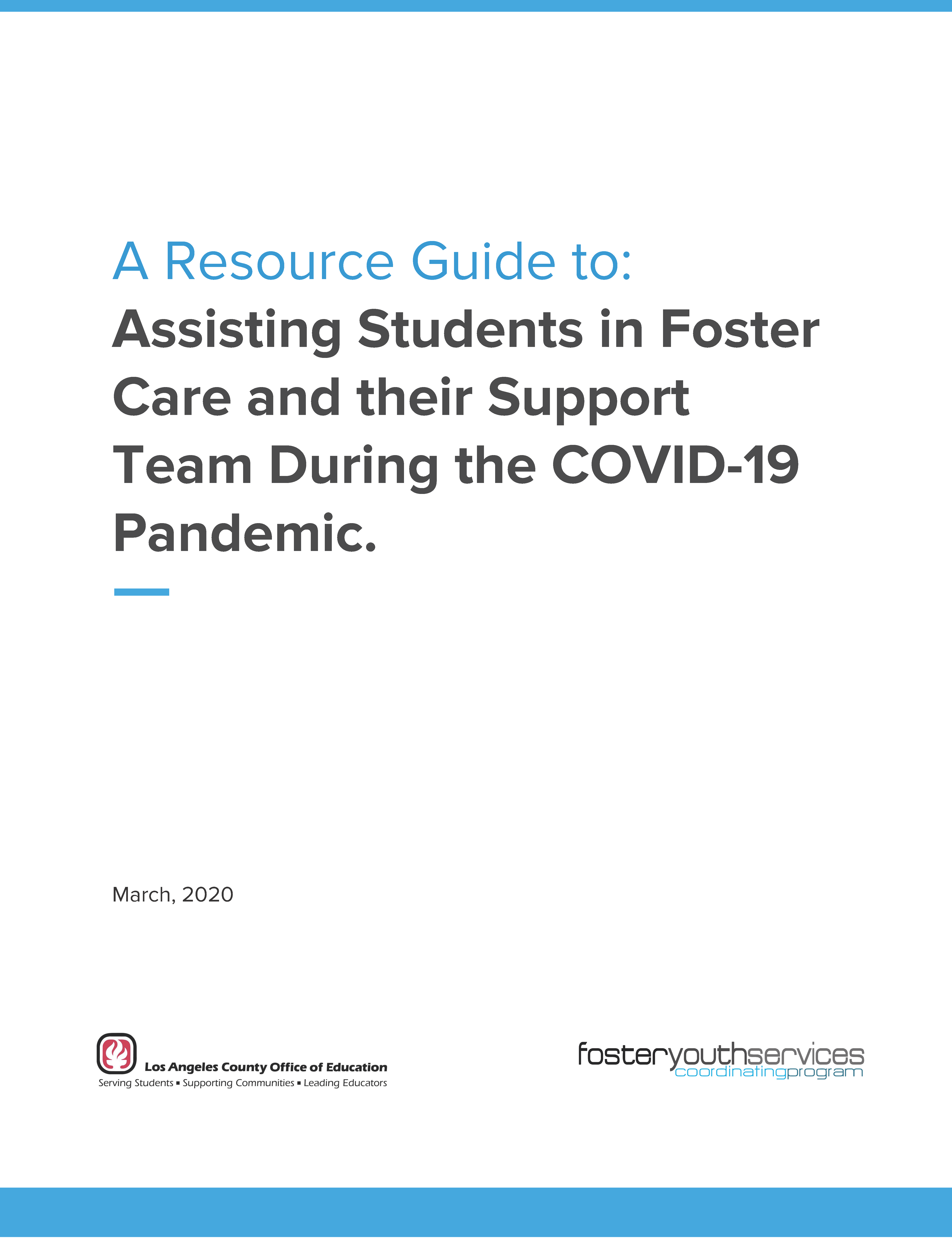 FYSCP Resource Guide for Students and Support Teams
