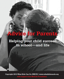 Advice for Parents-Helping your child succeed in school and life