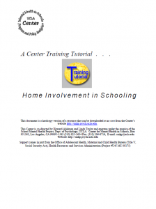 Enhancing Home Involvement to Address Barriers to Learning: A Collaborative Process