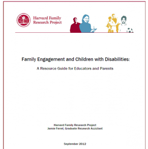 Family Engagement and Children with Disabilities