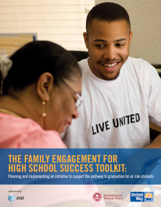 The Family Engagement for High School Success Toolkit: Planning and implementing an initiative to su