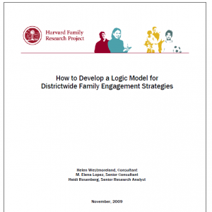 How to Develop a Logic Model for Districtwide Family Engagement Strategies